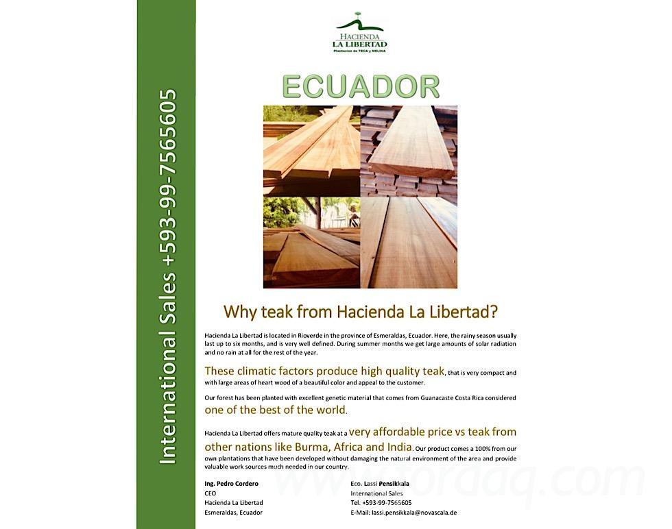 Hacienda La Libertad - Teak and tropical wood from Ecuador